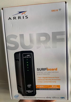 ARRIS SBG10 DOCSIS 3.0 CABLE MODEM & WI-FI ROUTER (Sealed Box) for Sale in Miami, FL