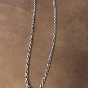 Italian Silver Diamond Cut Chain for Sale in St. Louis, MO