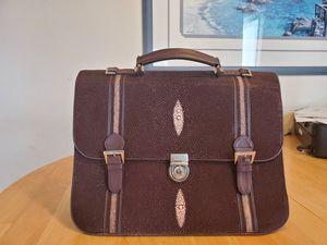 Exotic Genuine Sting Ray Mens brief case for Sale in Pismo Beach, CA