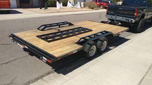 Fresh rebuilt car hauler / flatbed trailer. for Sale in Peoria, AZ