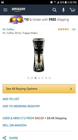 Mr Coffee Frappe and Coffee Maker for Sale in St. Louis, MO