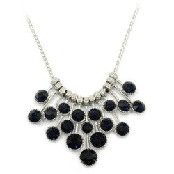 Black pendant silver circle crystal necklace for Sale in Redwood City,  CA