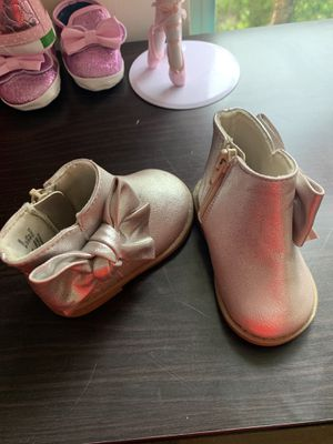 Baby girl ankle boots size 3 both pair for Sale in Middleburg, FL