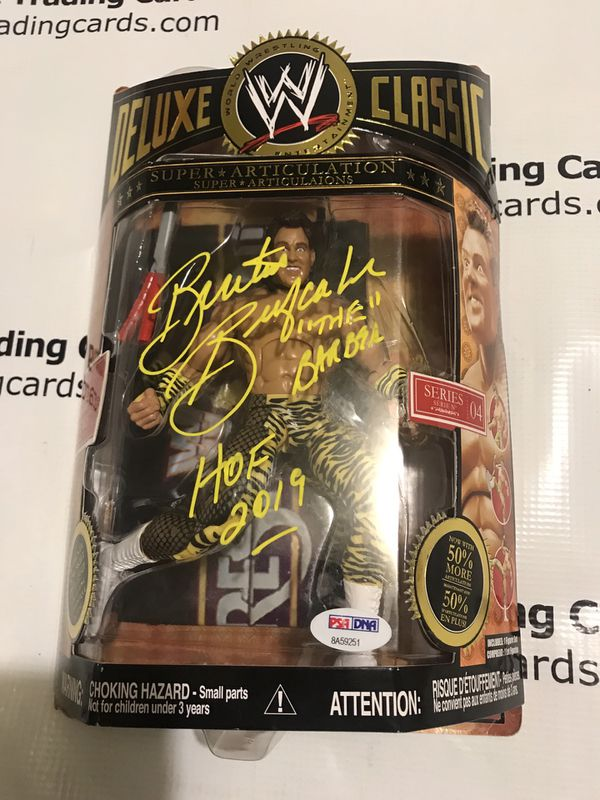 PSA/DNA Authentic Brutus Beefcake Signed WWF Classic Action Figure w/ HOF Inscription