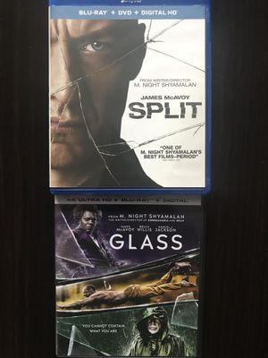 Split and Glass in Blu-ray all for $20, Disney marvel Harry Potter the Star Wars movies Bluray and dvd collectibles for Sale in Everett, WA