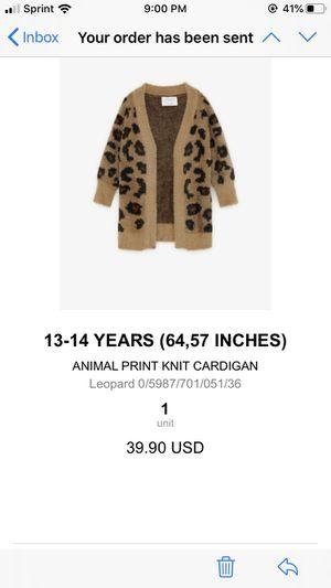 Zara leopard cardigan for Sale in Fullerton, CA