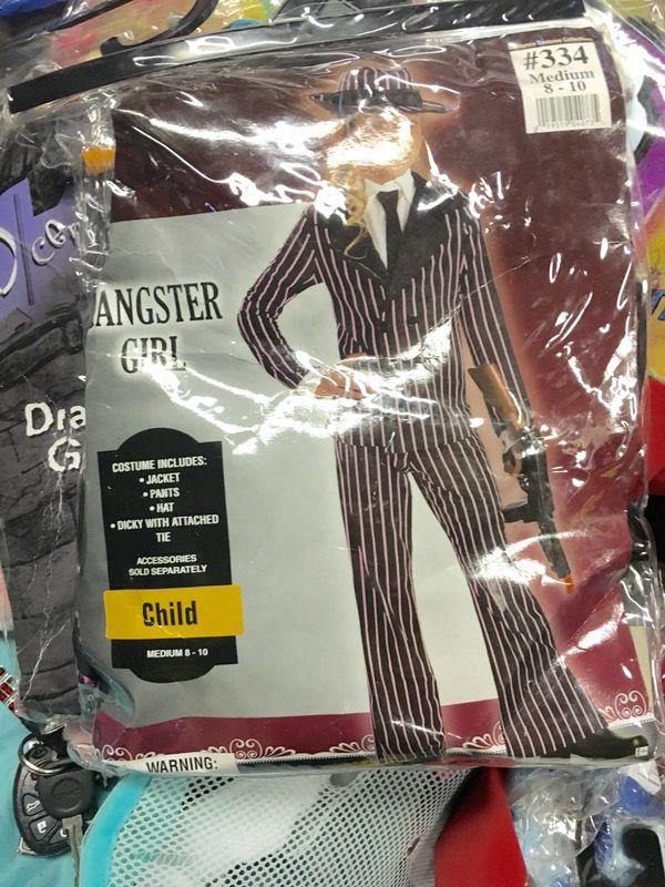 "Halloween costume""gangster girl""size 6-8"
