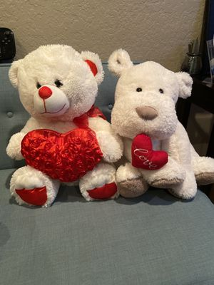 Two Love Teddy Bear & Doggy for Sale in Chino, CA