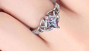 Princess Multicolor CZ Rings Size: 9 for Sale in Brownsboro, TX