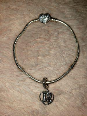 Pandora Bracelet with charm for Sale in Des Plaines, IL