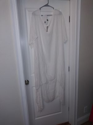 White linen dress for Sale in Tacoma, WA