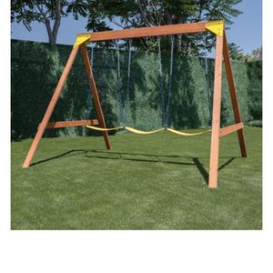 Wood Swing Set With 3 Swings Brand New In Box for Sale in Chino Hills, CA
