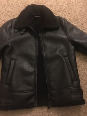 Men's leather H&M fur jacket/coat (MEDIUM) for Sale in Washington, DC