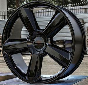 "Brand New 24"" Rep27 6x139.7 Black Wheels for Sale in Miami Springs, FL"