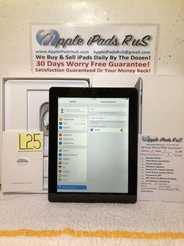 L25 - iPad 4 16GB