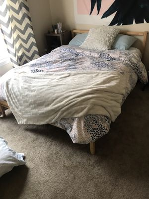 Bed with frame for Sale in Fort Collins, CO
