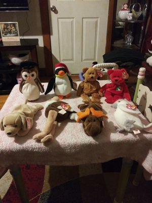 8 old beanies babies for Sale in Pawtucket, RI