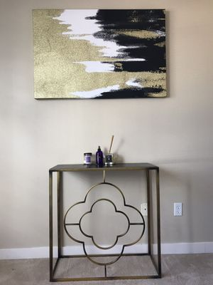Canvas Painting **Black, white and GOLD** for Sale in Seattle, WA