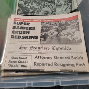 San Francisco Chronicle Super Raiders Crush The Redskins for Sale in San Jose, CA