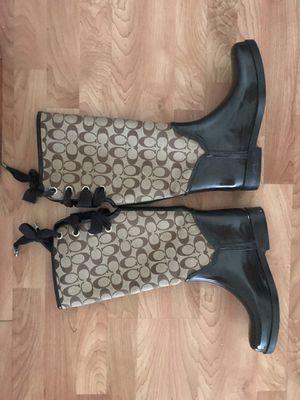 Coach rain boots size 10 for Sale in Des Plaines, IL