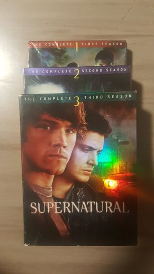 Supernatural Complete DVD Seasons 1-3 for Sale in Seattle, WA