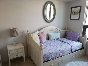 Twin Bed with trundle and End Table for Sale in Washington, DC