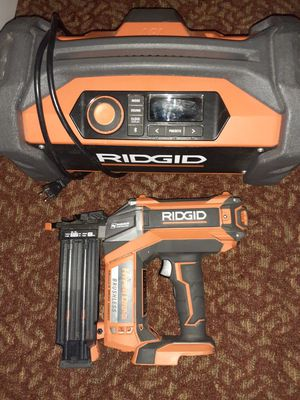 Ridgid cordless nail gun and radio $250 obo for Sale in West Linn, OR