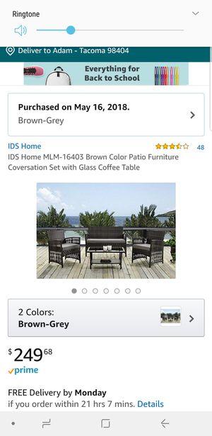 Patio furniture set for Sale in Tacoma, WA