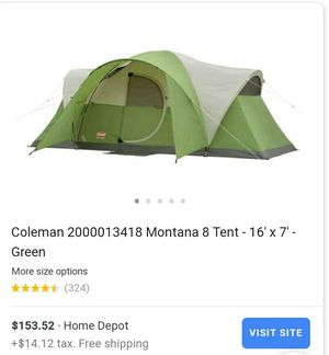 New Coleman 8 person Camping Montana Tent for Sale in Glendale, AZ