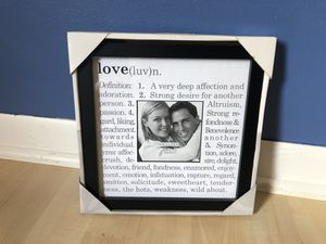Love picture frame for Sale in Palatine, IL