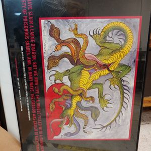 James Woolsley Dragon Quote Poster From Spy Museum for Sale in Lorton, VA