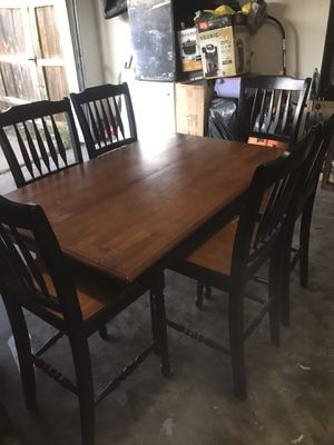 Dining room kitchen table. Dimensions as follow. Chairs 24 inch high the table 30 inches high .56 inch long by 35 inch wide for Sale in Garland, TX