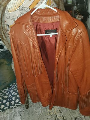 Vintage fringed genuine leather coat for Sale in Oceanside, CA
