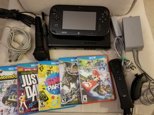 Nintendo Wii U system + 5 games & extra montion plus controller set for Sale in Redmond, WA