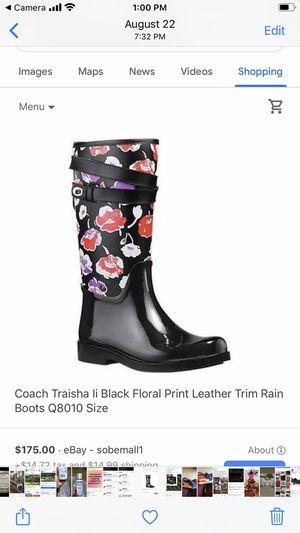 Coach Rain Boots for Sale in College Park, GA