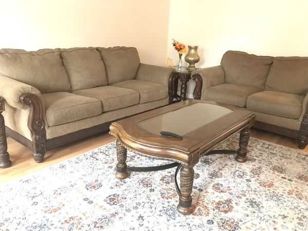 Sofa and loveseat living room set