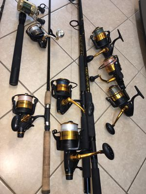 Penn fishing rods and reels for Sale in Boynton Beach, FL