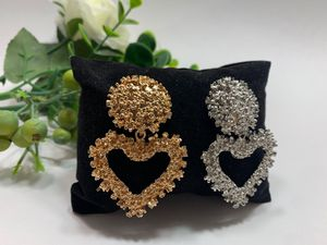 EmbossedMetal Heart Stud Earrings For Women, Set of 2 (Gold and Silver Color) for Sale in Tustin, CA