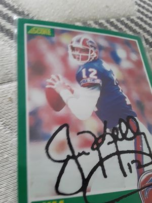 Jim Kelly autograph card for Sale in Downey, CA