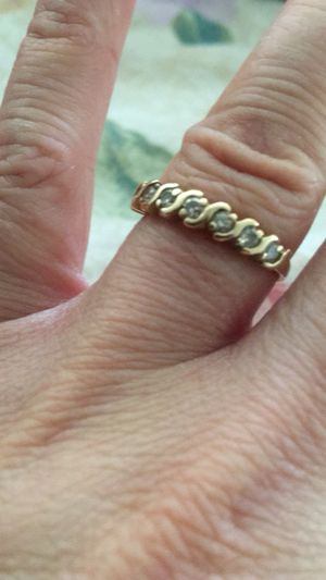 14 k Gold 7 diamond wedding band and Engagement ring . for Sale in Tempe, AZ