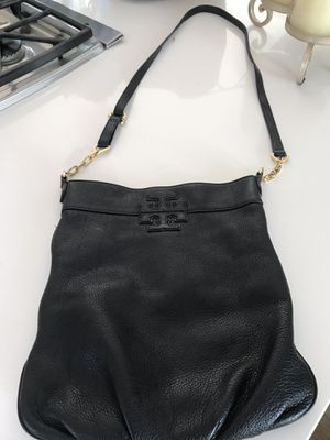 Tory Burch Black Messenger Bag leather for Sale in San Diego, CA