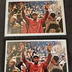 Kanye West Print And Poster In Glass Frame for Sale in West Covina, CA