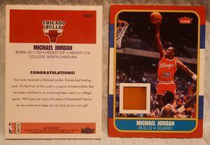 Rare Michael Jordan 2007-08 Fleer RC-F Game Used Memorabilia Piece of the Floor Card for Sale in San Jose, CA
