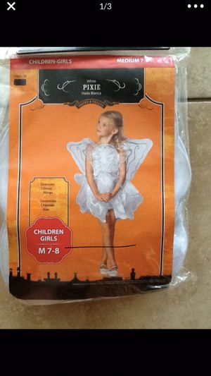 New White Fairy Girls Costume size M 7-8 for Sale in Babson Park, FL