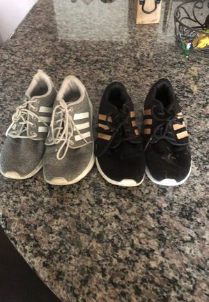 Adidas US size 8 2 pair Black & Grey for Sale in Rancho Cucamonga, CA