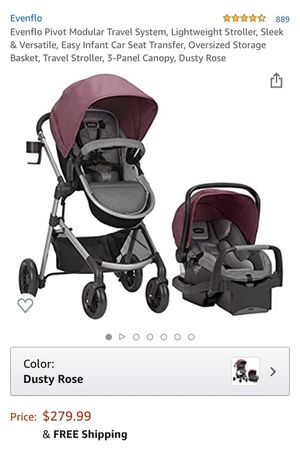 Stroller with car seat for Sale in Chicago, IL