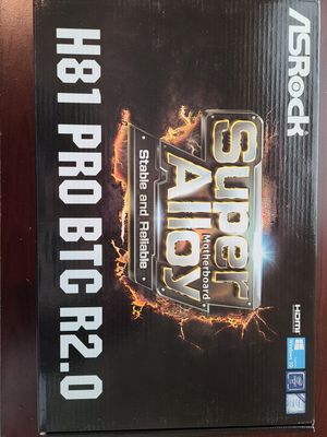 AsRock motherboard h81 pro btc r2 for Sale in Chantilly, VA