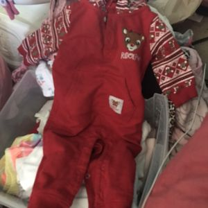 Red Holiday Rudolph Pajama/onesie for Sale in Chula Vista, CA