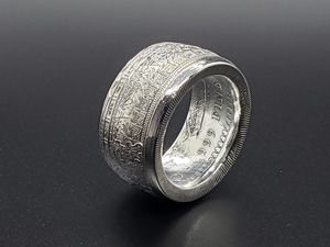 .999 Silver Aztec Calendar Coin Ring for Sale in Conway, AR