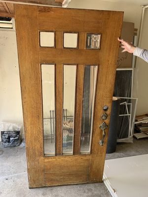 Beautiful Quarter-Sawn Oak front door from 1920 Craftsman home for Sale in San Diego, CA